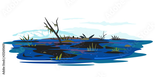 Carta da parati Swamp Illustration Isolated
