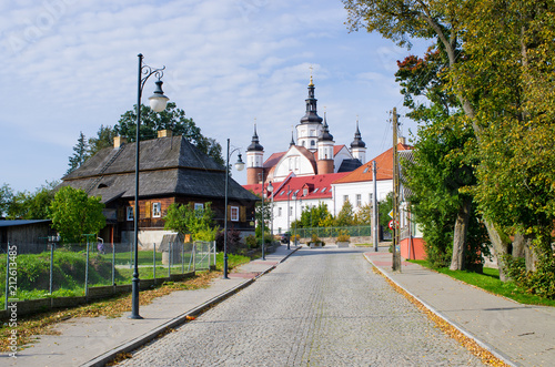 In de dag Historisch geb. Old monastery in Suprasl, Poland