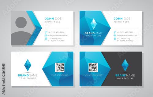 Fotografía Modern geometric business card with photo