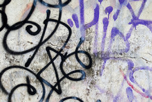 Colorful Graffiti Texture On Wall As Background