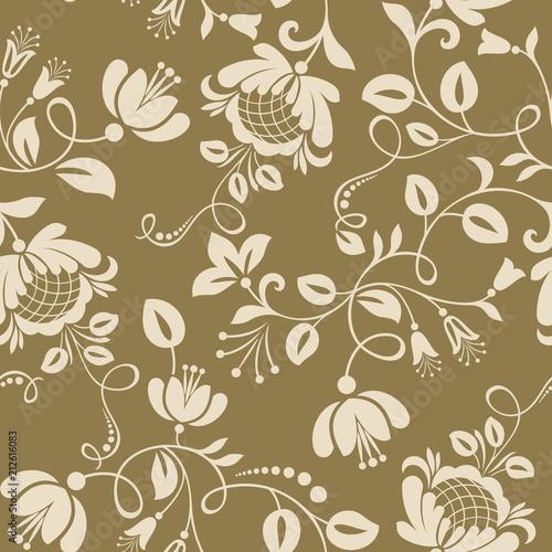 Seamless Vintage Flower Wallpaper Pattern