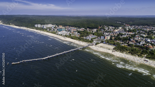 Międzyzdroje - a picturesque Polish resort on the Baltic coast from a bird's eye view