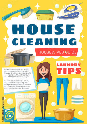 Vector brochure for house cleaning © Vector Tradition