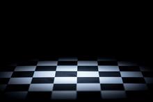 Abstract Chessboard On Dark Ba...