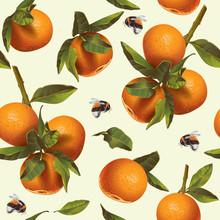 Mandarin Fruit Pattern