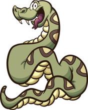 Happy Cartoon Boa Constrictor ...