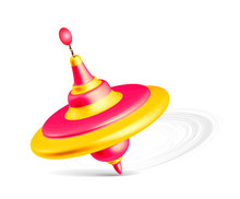 Whirligig Toy Isolated On Whit...