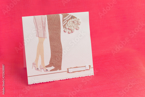 A Handmade Greeting Card Made Of PaperHappy Birthday CardRomantic Invitation