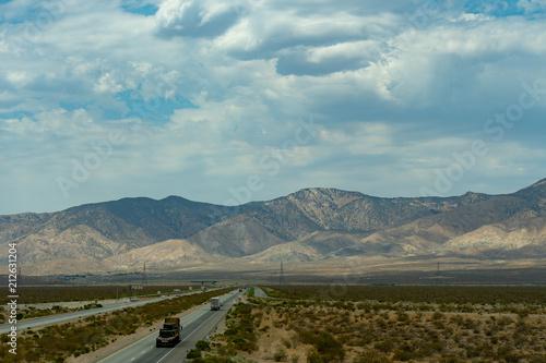 Poster Donkergrijs mojave, mojave desert, desert, landscape, california