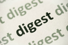 Word Digest Printed On Paper Macro