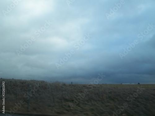 Keuken foto achterwand Grijze traf. Clouds