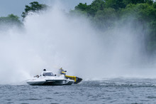 Speed Boats In Fast Action Race