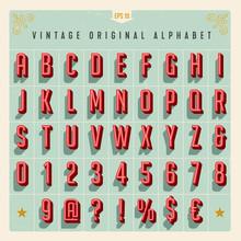 Vector Vintage Style Alphabet ...