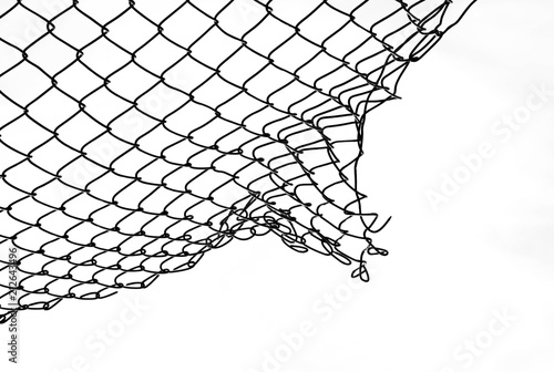 Fotografía  damage wire mesh