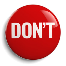 Don't Red Round Symbol Isolated