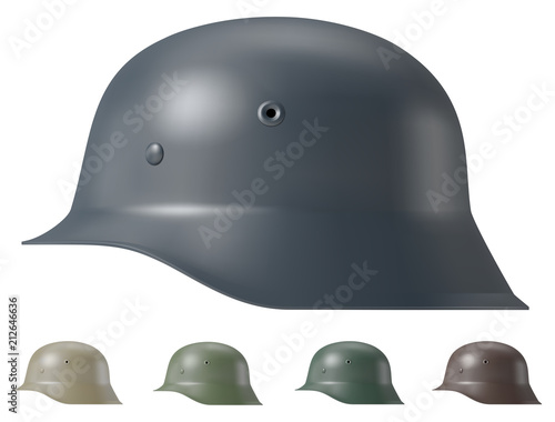Photo German ww2 military helmet