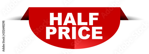 Fotografia red vector round banner half price