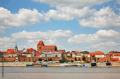 Foto Panoramic view of Torun.  Poland