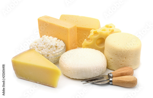 Poster Dairy products Various types of cheese