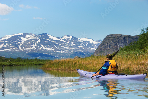 Valokuva  Paddling at the gates of Sarek