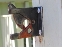 An Old Rusted Gate Latch