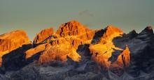 Brenta Dolomites In Sunset Light, Italy, Europe