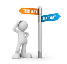 This That Way Concept 3d Illus...