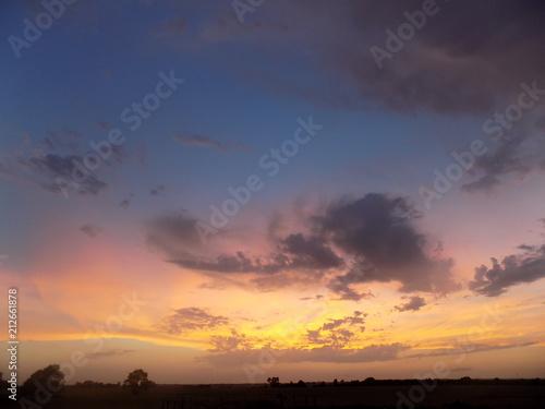 La pose en embrasure Coucher Sunset