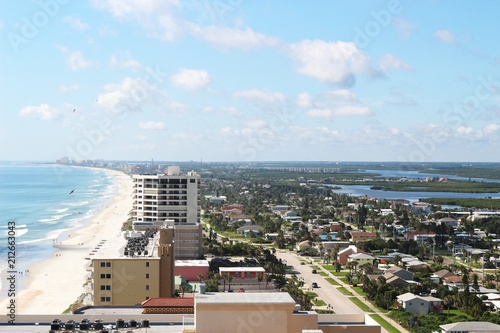 Fotomural Aerial View South to Ponce Inlet Florida