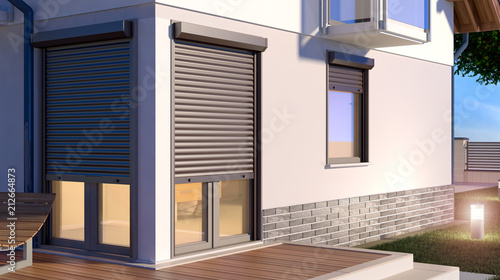Fototapety, obrazy: Window roller illustration - house 9