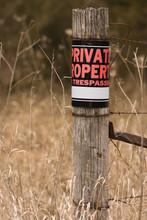 Private Property - No Trespass...