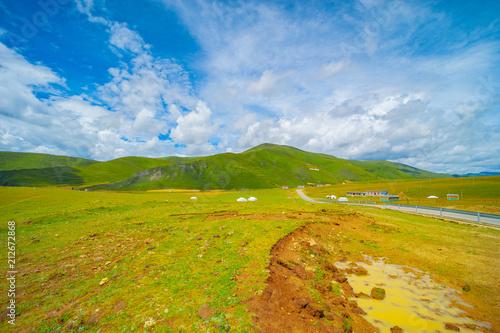 Foto op Canvas Klaprozen The beautiful scenery on the plateau--sichuan,china