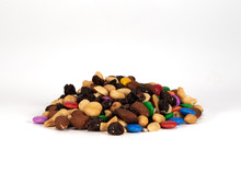 Large Pile Of Trail Mix On White