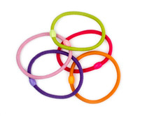 Colorful Hair Bands On White B...