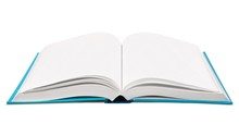Open Book With Blue Cover
