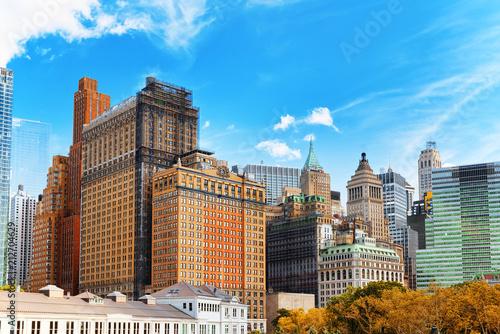 Keuken foto achterwand Verenigde Staten Urban cityscape of New York. Lower Manhattan district.