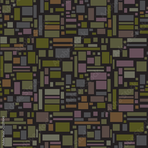 Seamless tile multicolored pattern. Abstract geometric wallpaper of the surface. Dark colors. Print for polygraphy, posters, t-shirts and textiles © mikabesfamilnaya