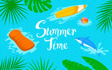 Summer Time Beach Sea Backgrou...