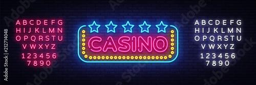 Fotografia Casino Neon sign vector design template