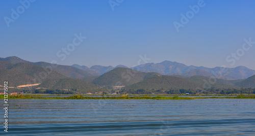 Deurstickers Grijs Landscape of Inle Lake, Myanmar