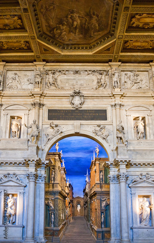 Keuken foto achterwand Theater Vicenza and the works of the architect Andrea Palladio