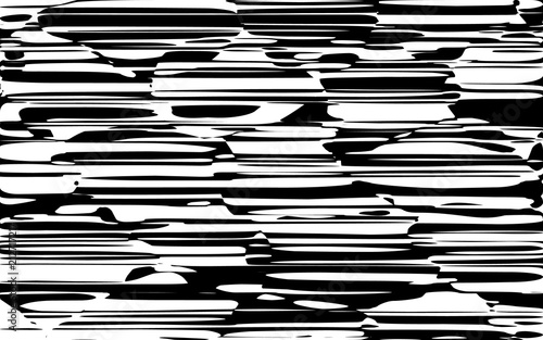Fotografia, Obraz  Random Chaotic Lines Abstract Geometric Pattern