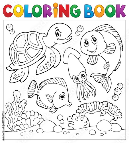 Recess Fitting For Kids Coloring book sea life theme 1