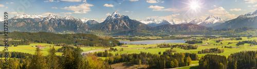 Fotobehang Alpen Frühling im Allgäu bei Füssen