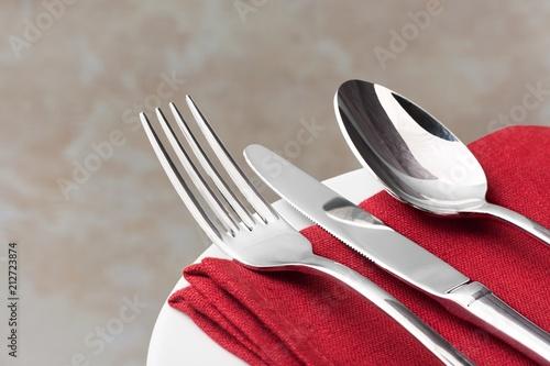 Fototapeta Cutlery on the table obraz
