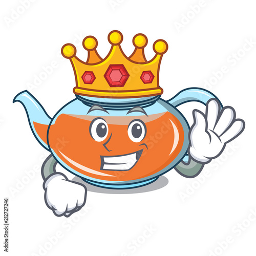 King Transparent Teapot Character Cartoon Kaufen Sie Diese