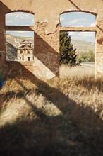 Ruins Of An Abandoned Old Train Station, Teruel, Spain