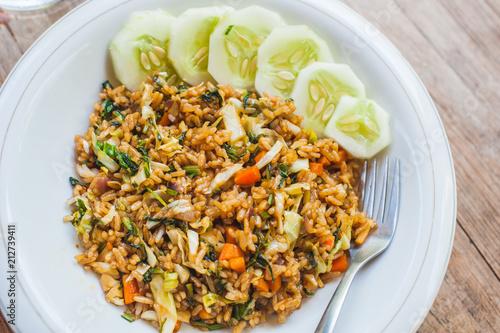 Photo Nasi goreng indonesian stir-fried rice recipe