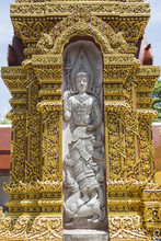 Statue At Wat Wat Phra That Cho Hae, Cho Hae Temple, Phrae Province 