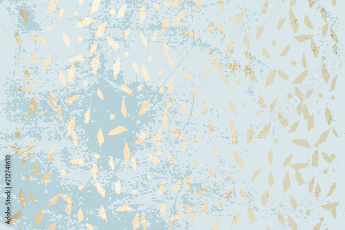Fotografia  Trendy Chic Pastel colored background with Gold Foil geometric shapes